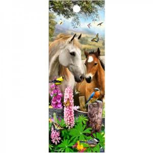 3D Lesezeichen Pferde