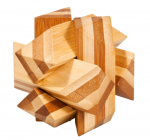 BambusPuzzle Schraeger Knoten