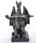 Drache schwarz mit Schwert