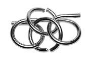 Drahtpuzzle Schlaufen und Ringe