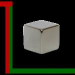 Wuerfelmagnet 10mm Nickel1