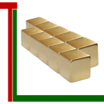 Wuerfelmagnete 12mm Gold IIW 1